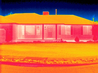 infrared image house